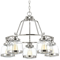 Judson 5 Light 26 inch Polished Nickel Chandelier Ceiling Light