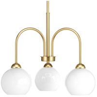 Progress P400059-078 Carisa 3 Light 22 inch Vintage Gold Chandelier Ceiling Light