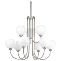 Carisa 9 Light 32 inch Brushed Nickel Chandelier Ceiling Light