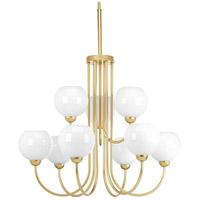 Progress P400061-078 Carisa 9 Light 32 inch Vintage Gold Chandelier Ceiling Light