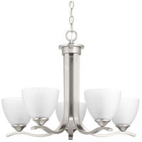 Laird 5 Light 24 inch Brushed Nickel Chandelier Ceiling Light