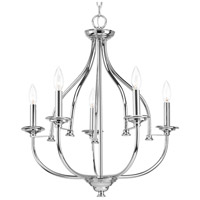 Tinsley 5 Light 23 inch Polished Chrome Chandelier Ceiling Light
