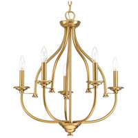 Tinsley 5 Light 23 inch Brushed Bronze Chandelier Ceiling Light