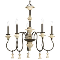 Bergamo 5 Light 26 inch Forged Bronze Chandelier Ceiling Light, Design Series