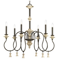 Progress P400069-077 Bergamo 6 Light 32 inch Forged Bronze Chandelier Ceiling Light Design Series