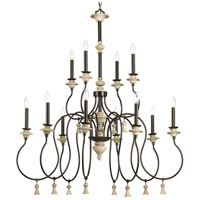 Bergamo 12 Light 42 inch Forged Bronze Chandelier Ceiling Light, Design Series
