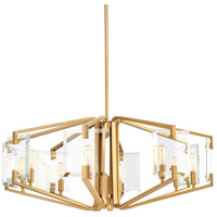 Cahill 8 Light 31 inch Brushed Bronze Chandelier Ceiling Light, Design Series