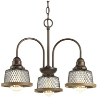 Tilley 3 Light 20 inch Antique Bronze Chandelier Ceiling Light
