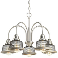 Tilley 5 Light 24 inch Brushed Nickel Chandelier Ceiling Light