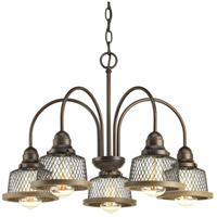 Tilley 5 Light 24 inch Antique Bronze Chandelier Ceiling Light