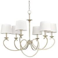Progress P400075-134 Savor 6 Light 33 inch Silver Ridge Chandelier Ceiling Light Design Series