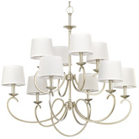 Progress P400076-134 Savor 10 Light 38 inch Silver Ridge Chandelier Ceiling Light Design Series
