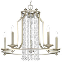 Progress P400078-134 Desiree 5 Light 28 inch Silver Ridge Chandelier Ceiling Light Design Series
