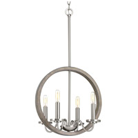 Fontayne 4 Light 16 inch Brushed Nickel Chandelier Ceiling Light, Design Series