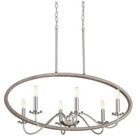 Fontayne 6 Light 36 inch Brushed Nickel Chandelier Ceiling Light, Design Series