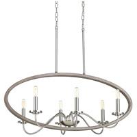 Progress P400082-009 Fontayne 6 Light 36 inch Brushed Nickel Chandelier Ceiling Light Design Series