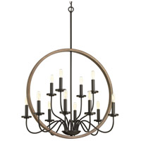Progress P400083-020 Fontayne 12 Light 32 inch Antique Bronze Chandelier Ceiling Light Design Series