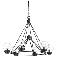 Spatial 6 Light 26 inch Black Chandelier Ceiling Light, Design Series