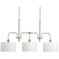 Progress P400092-009 Cordin 3 Light 38 inch Brushed Nickel Island Light Ceiling Light, Design Series