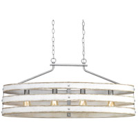 Gulliver 4 Light 39 inch Galvanized Island Light Ceiling Light