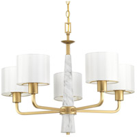Palacio 5 Light 27 inch Vintage Gold Chandelier Ceiling Light, Design Series