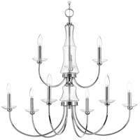 Progress P400104-015 Litchfield 9 Light 34 inch Polished Chrome Chandelier Ceiling Light