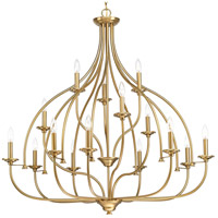 Progress P400110-109 Tinsley 15 Light 42 inch Brushed Bronze Chandelier Ceiling Light