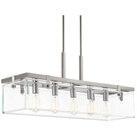 Glayse 5 Light 37 inch Brushed Nickel Island Light Ceiling Light, Design Series