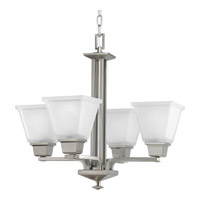 Progress Lighting North Park 4 Light Chandelier in Brushed Nickel P4001-09