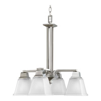 Progress Lighting North Park 4 Light Chandelier in Brushed Nickel P4002-09