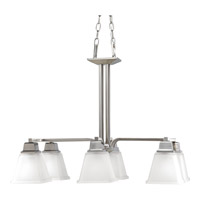 Progress Lighting North Park 6 Light Chandelier in Brushed Nickel P4003-09