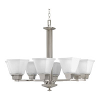 Progress P4004-09 North Park 8 Light 27 inch Brushed Nickel Chandelier Ceiling Light