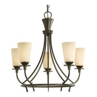 Cantata 5 Light 23 inch Forged Bronze Chandelier Ceiling Light in Seeded Topaz Glass