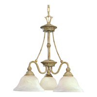 Savannah 3 Light 22 inch Seabrook Chandelier Ceiling Light