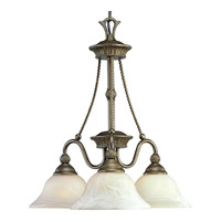 Progress Lighting Savannah 3 Light Chandelier in Burnished Chestnut P4007-86