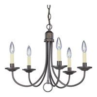 Signature 5 Light 21 inch Antique Bronze Chandelier Ceiling Light