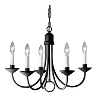 Signature 5 Light 21 inch Black Chandelier Ceiling Light