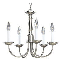 Progress Lighting Signature 5 Light Chandelier in Brushed Nickel P4009-09