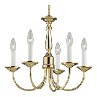 Progress Lighting Signature 5 Light Chandelier in Polished Brass P4009-10