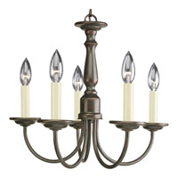 Progress Lighting Signature 5 Light Chandelier in Antique Bronze P4009-20