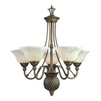 Progress P4010-86 Savannah 5 Light 27 inch Burnished Chestnut Chandelier Ceiling Light photo thumbnail