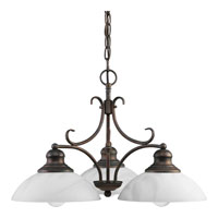 Progress Lighting Travera 3 Light Chandelier in Copper Verde P4019-57