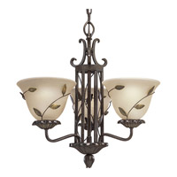 Progress Lighting Eden 3 Light Chandelier in Forged Bronze P4022-77