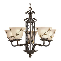 Progress Lighting Eden 5 Light Chandelier in Forged Bronze P4023-77