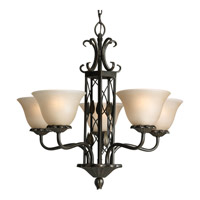 Progress P4023 77 Eden 5 Light 27 Inch Forged Bronze Chandelier Ceiling Alternative Photo