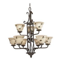 Progress Lighting Eden 9 Light Chandelier in Forged Bronze P4024-77