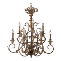 Progress Lighting Thomasville Elysian 9 Light Chandelier in Golden Brandy P4027-02
