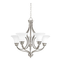 Progress Lighting Applause 5 Light Chandelier in Brushed Nickel P4036-09