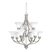 Applause 9 Light 29 inch Brushed Nickel Chandelier Ceiling Light