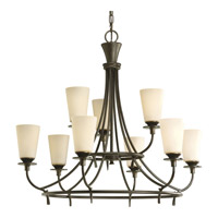 Cantata 9 Light 31 inch Forged Bronze Chandelier Ceiling Light in Seeded Topaz Glass